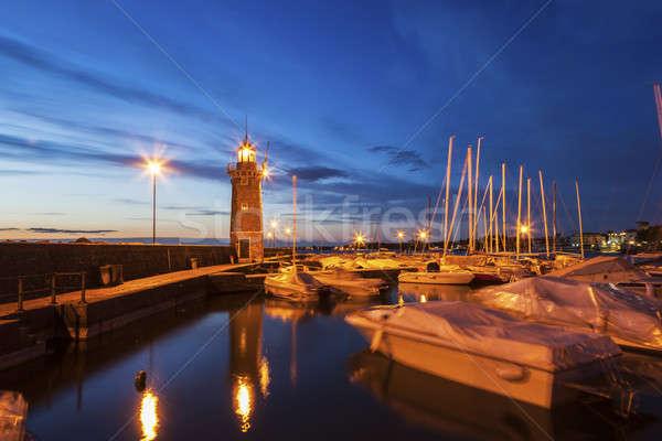 Lighthouse in Desenzano del Garda Stock photo © benkrut