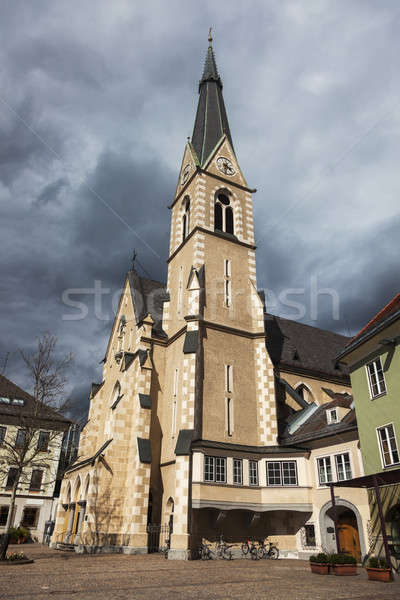 St. Nicholas Church in Villach Stock photo © benkrut