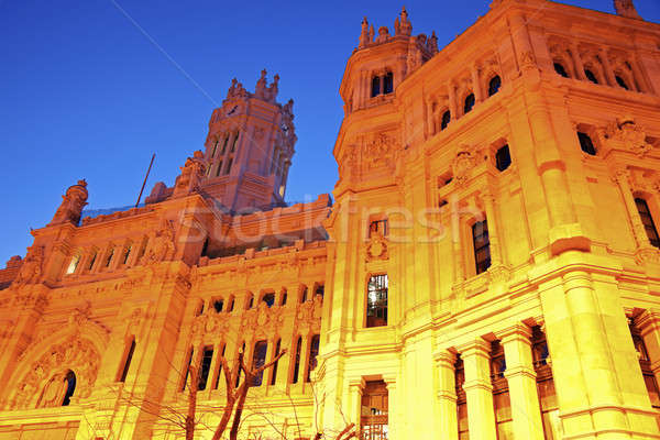 Palacio de Comunicaciones in Madrid Stock photo © benkrut