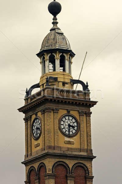 óra torony Newcastle Új-Dél-Wales Ausztrália Stock fotó © benkrut