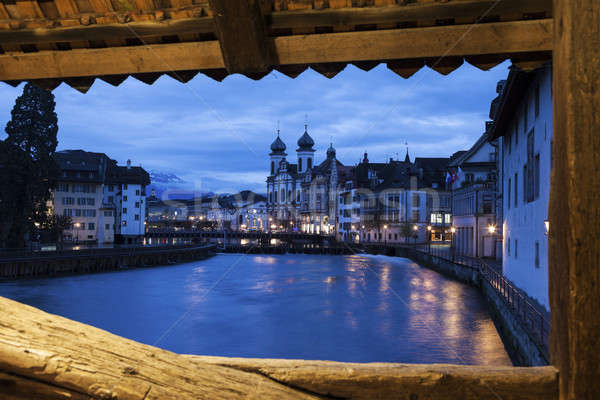 Lucerne seen from Spreuer Bridge  Stock photo © benkrut