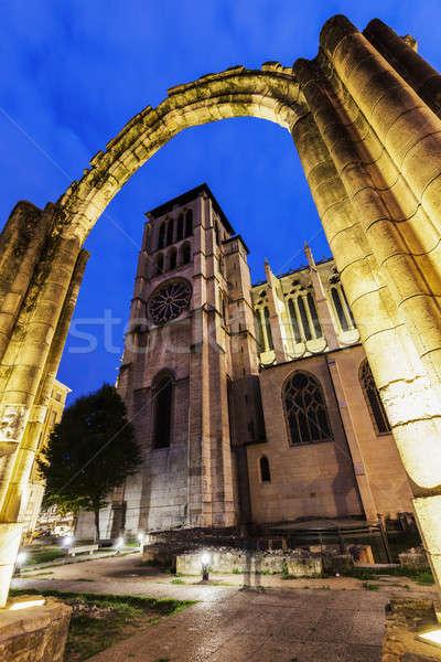 Cattedrale vecchio rovine Lione città chiesa Foto d'archivio © benkrut