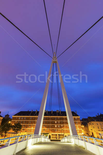 Piéton pont centre normandie France ville Photo stock © benkrut