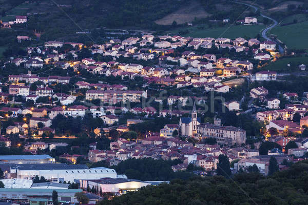 Millau panorama at night Stock photo © benkrut