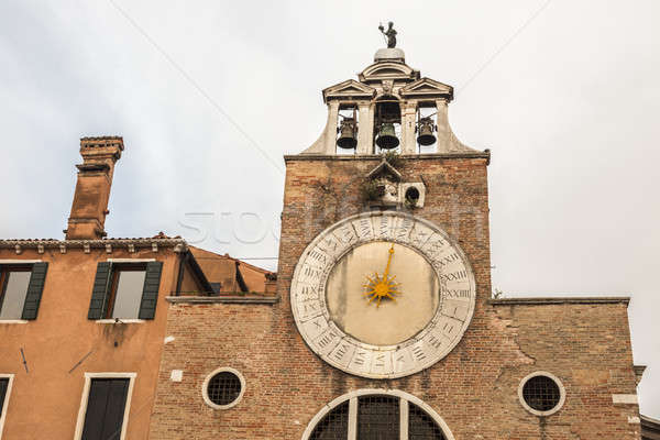 Sundial Bell Tower in Venice Stock photo © benkrut