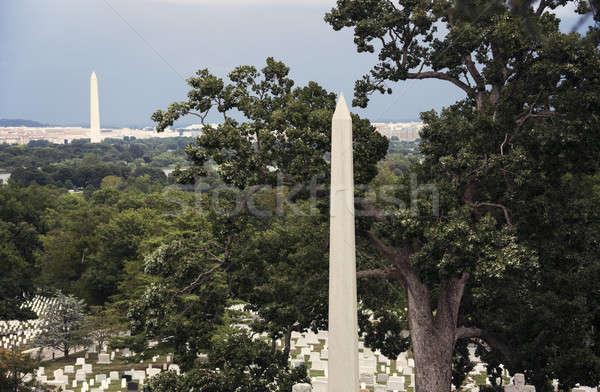 Obelisk - Arlington Cemetary Stock photo © benkrut