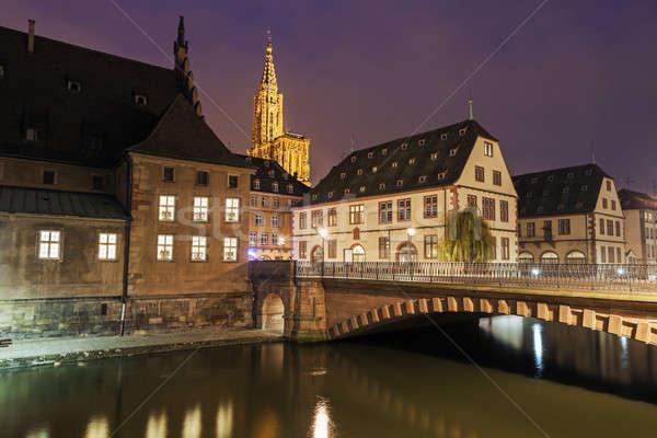 старый город архитектура здании город ночь Готский Сток-фото © benkrut