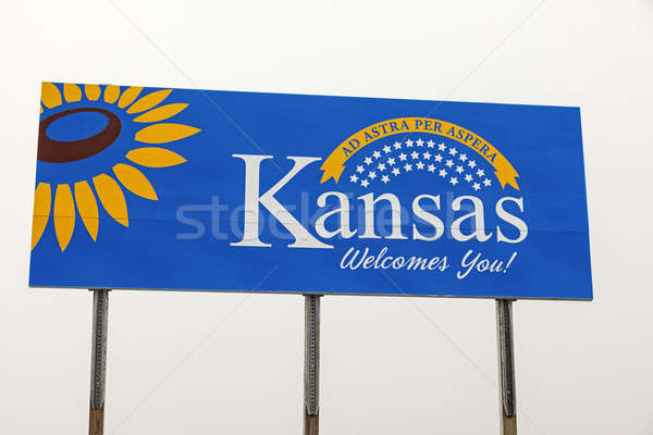 Kanas Welcome Sign Stock photo © benkrut
