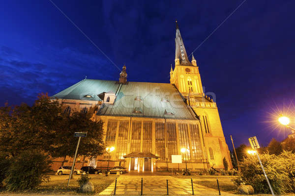 Cathedral Basilica of St. James the Apostle in Szczecin Stock photo © benkrut