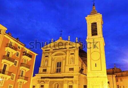 Chapelle des Penitents Blancs in Menton Stock photo © benkrut