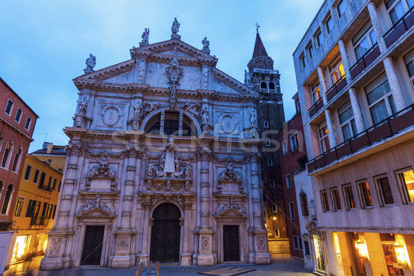 San Moise Church in Venice Stock photo © benkrut
