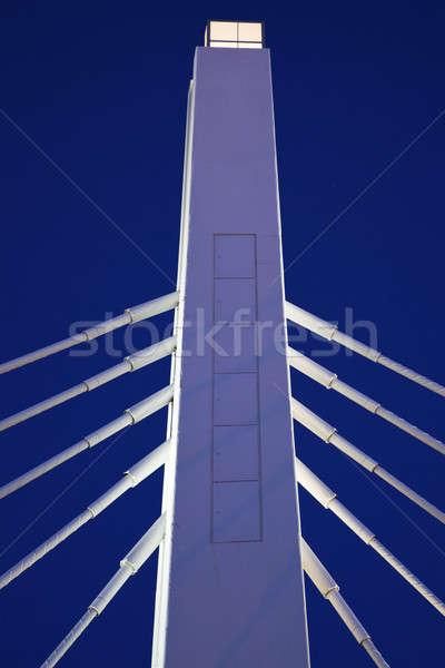 Fehér híd kék ég este Stock fotó © benkrut