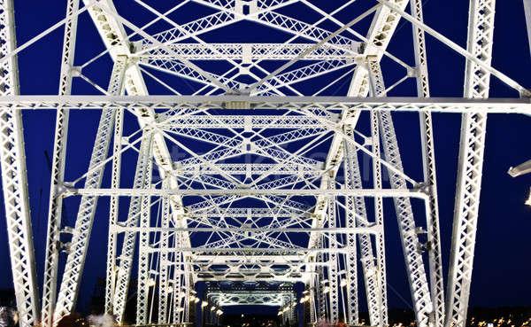 Pedestrian bridge in Nashville Stock photo © benkrut