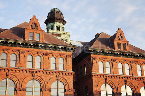 Ville salle Illinois centre ciel fenêtre Photo stock © benkrut