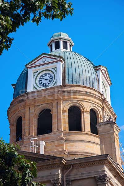 裁判所 新しい フィラデルフィア オハイオ州 クロック ストックフォト © benkrut