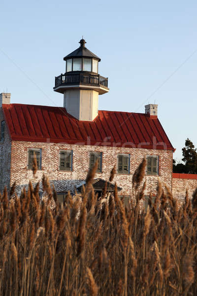 Nokta deniz feneri New Jersey ABD seyahat Stok fotoğraf © benkrut