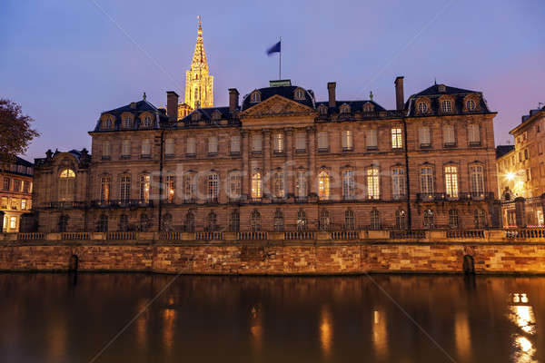 Old Town architecture with Palais Rohan and Strasbourg Minster  Stock photo © benkrut