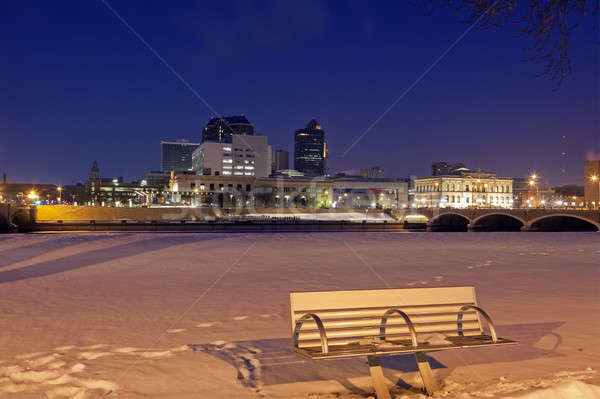 Des Moines skyline  Stock photo © benkrut