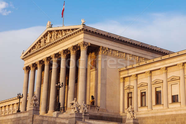 Parlamento Austria Vienna mattina città blu Foto d'archivio © benkrut