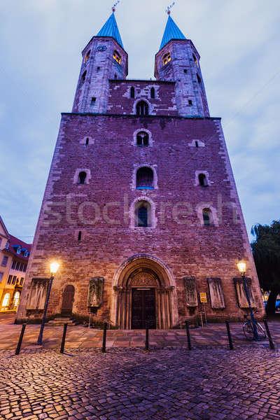 St. Martin Church on Altstadtmarkt in Braunschweig Stock photo © benkrut