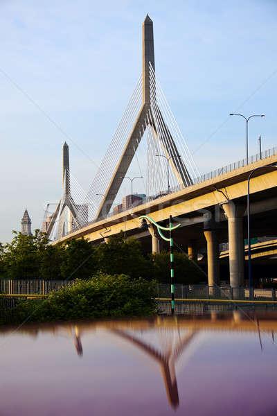 Stock photo: The Leonard P. Zakim Bunker Hill Memorial Bridge