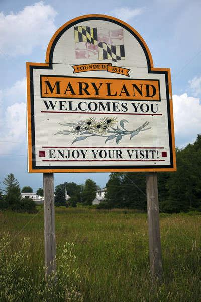 приветствую Мэриленд дорожный знак шоссе Сток-фото © benkrut
