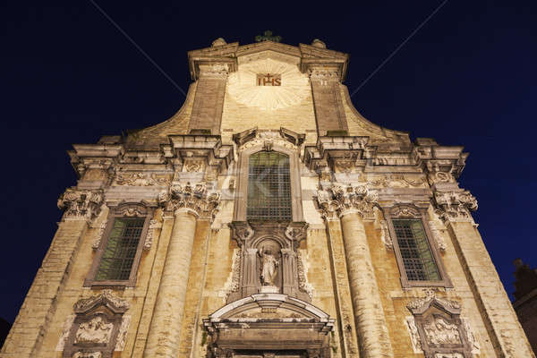 Church of Saints Peter and Paul on Veemarkt in Mechelen Stock photo © benkrut