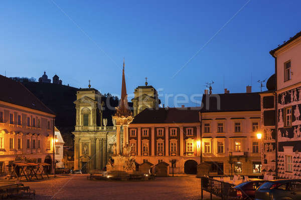 St. Anne's Church on Main Square in Mikulov. Mikulov  Stock photo © benkrut