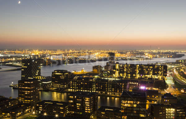 Stock photo: Aerial panorama of Rotterdam