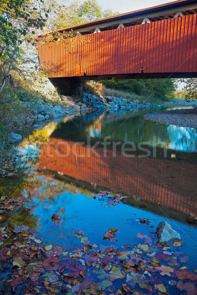 Everett Road Covered Bridge Stock photo © benkrut