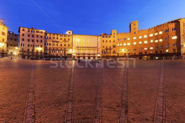 Piazza del Campo in Siena Stock photo © benkrut