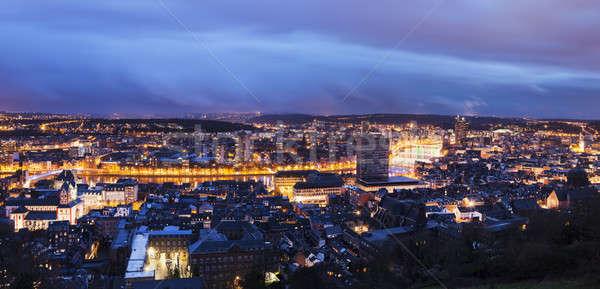 Panorama of Liege Stock photo © benkrut