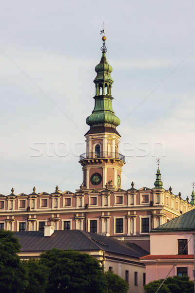 Zamosc Town Hall on Great Market Square  Stock photo © benkrut