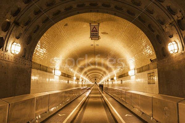 Túnel río hamburgo Alemania ciudad horizonte Foto stock © benkrut