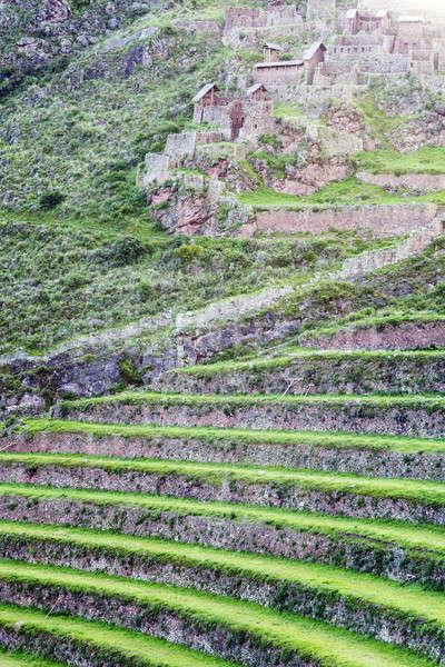 Romok szent völgy Peru zöld kő Stock fotó © benkrut