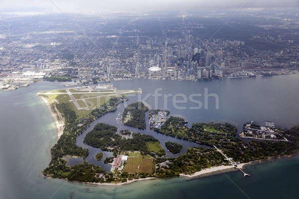 Toronto ontario Canadá horizonte lago Foto stock © benkrut