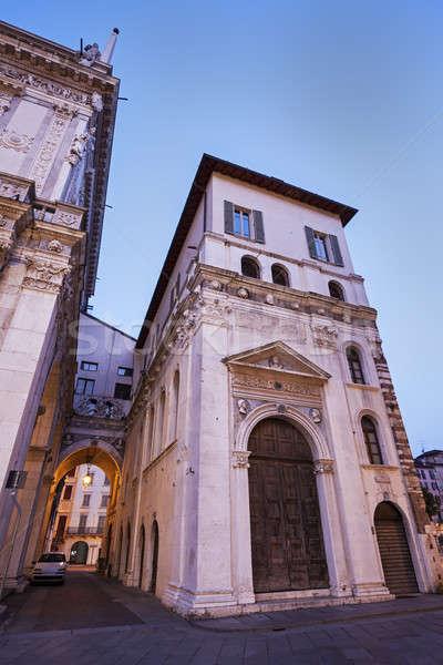 Old architecture of Brescia  Stock photo © benkrut