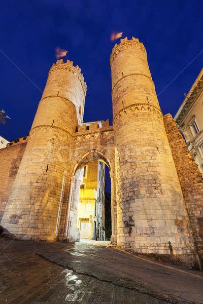 Porta Soprana in Genoa Stock photo © benkrut