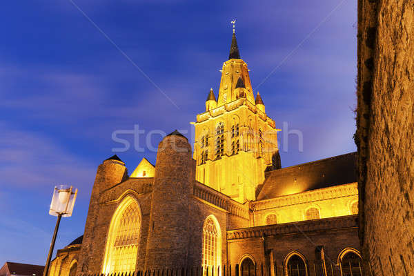 Eglise Notre-Dame Cathedral in Calais  Stock photo © benkrut