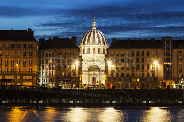 Foto stock: Panorama · rio · la · céu · cidade · igreja