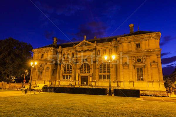 Eski kütüphane yer Bina şehir mavi Stok fotoğraf © benkrut