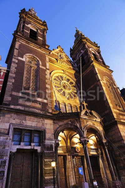 Basílica Amsterdam norte Holanda Países Bajos cielo Foto stock © benkrut