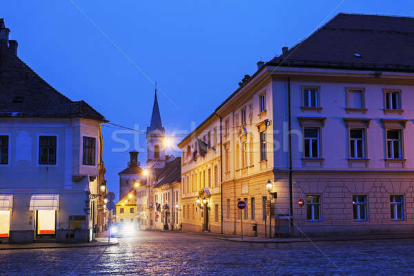 Zagreb old town streets at night  Stock photo © benkrut
