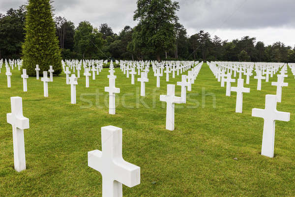 Normandy American Cemetery and Memorial in Saint Laurent sur Mer Stock photo © benkrut