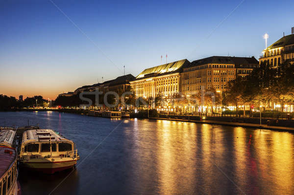 Architecture by Binnenalster in Hamburg Stock photo © benkrut