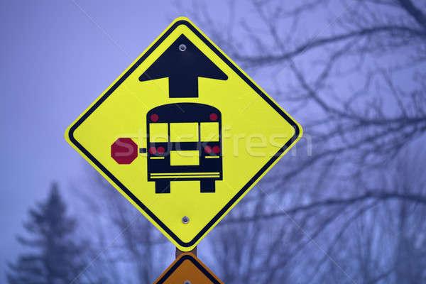 スクールバス にログイン 午前 時間 農村 ストックフォト © benkrut