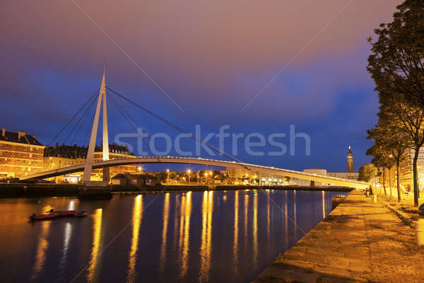 Pedestrian bridge in Le Havre  Stock photo © benkrut