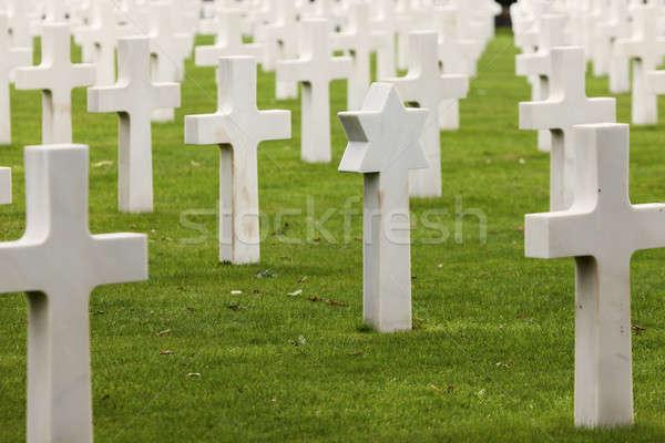 Normandia americano cimitero santo Francia cielo Foto d'archivio © benkrut