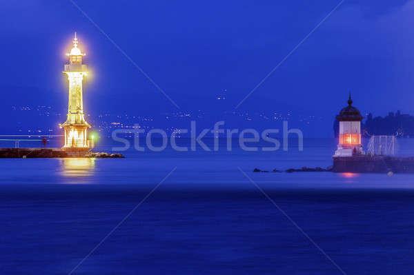 Geneva Lighthouses Stock photo © benkrut