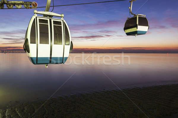 Aerial lift in Parque das Nacoes Stock photo © benkrut